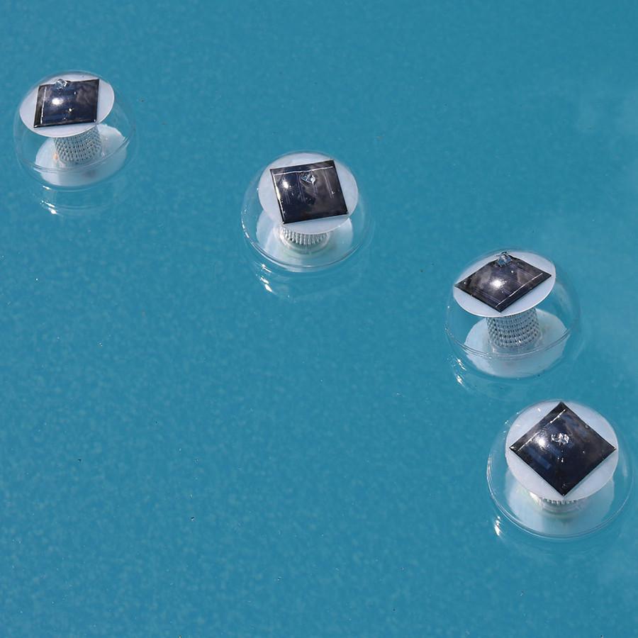 Sunnydaze Color-Changing Floating Multi-Color LED Solar Lights for Pools, Ponds, and Landscape Decor - Set of 4
