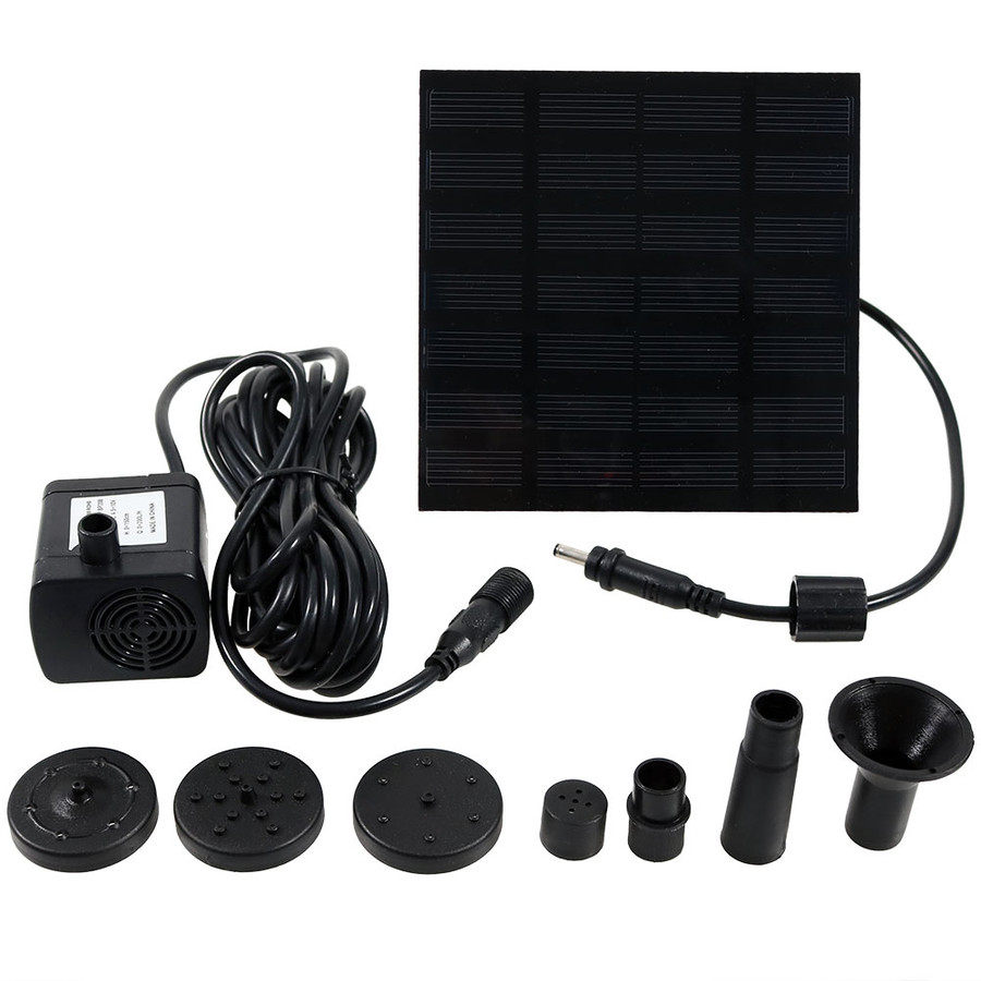 Solar Fountain Water Pump Kit, 20 Inch Lift, 40 GPH