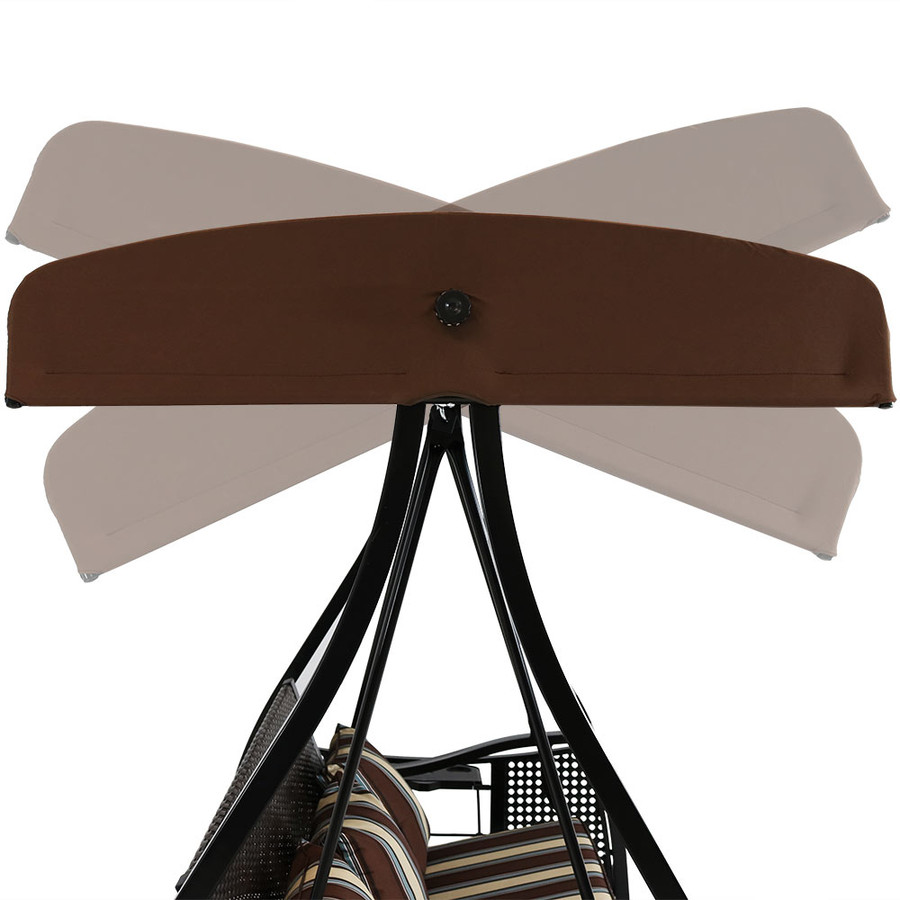 Brown with Black Frame Tilt/Lock Canopy