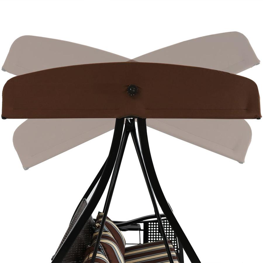 Brown with Black Frame Tilt/Lock Canopy