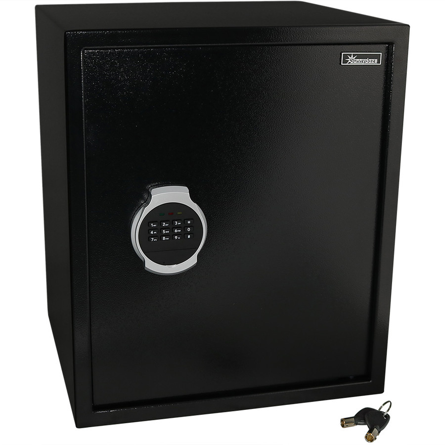 Sunnydaze Steel Digital Home Security Safe with Removable Shelf and Programmable Lock, 2.26 Cubic Feet