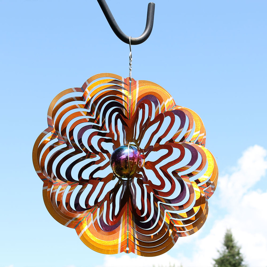 Gold Dust 3D Whirligig Wind Spinner