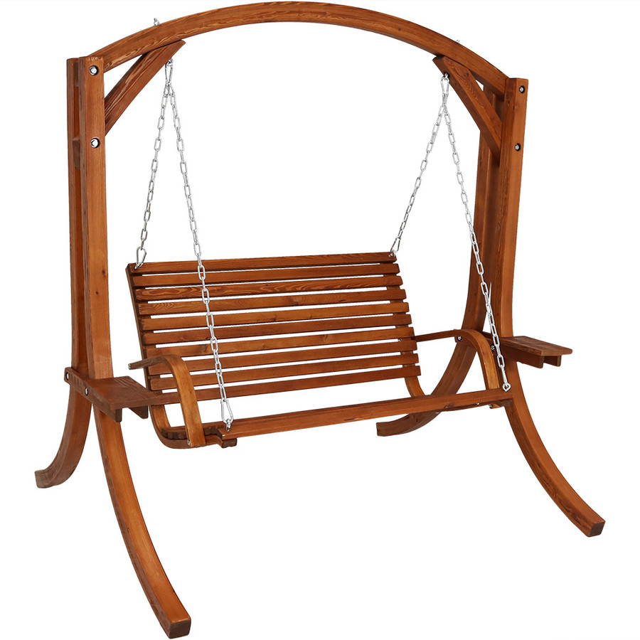 Wooden Swing with Cushion Removed