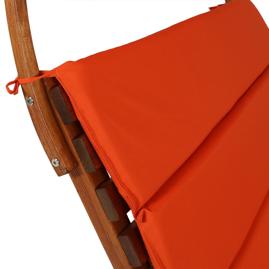 Burnt Orange Backrest Closeup
