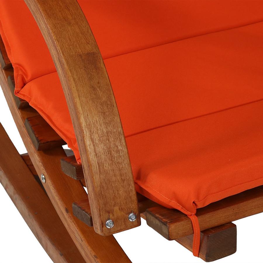 Burnt Orange Armrest Closeup