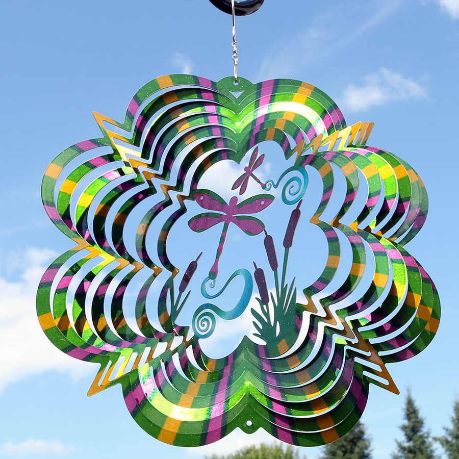 Reflective 3D Whirligig Dragonfly Wind Spinner