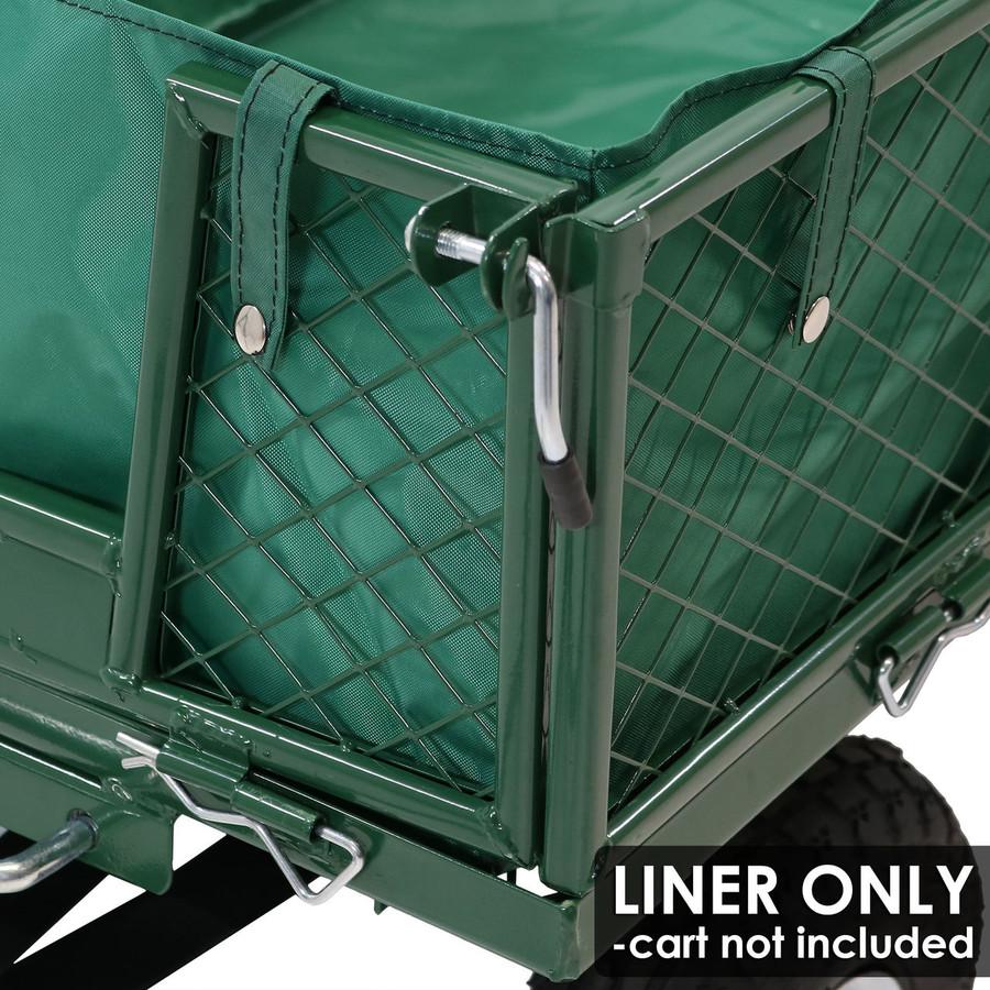 Sunnydaze Heavy-Duty Dumping Utility Cart Liner ONLY