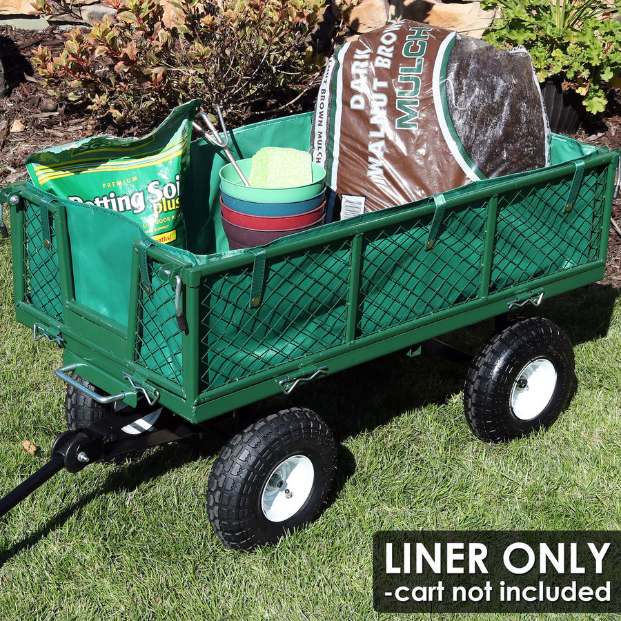 Sunnydaze Heavy-Duty Dumping Utility Cart Liner ONLY
