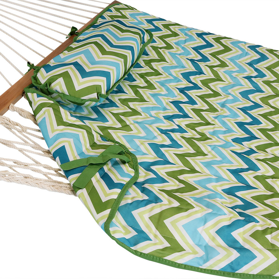 Blue & Green Chevron - HAMMOCK NOT INCLUDED