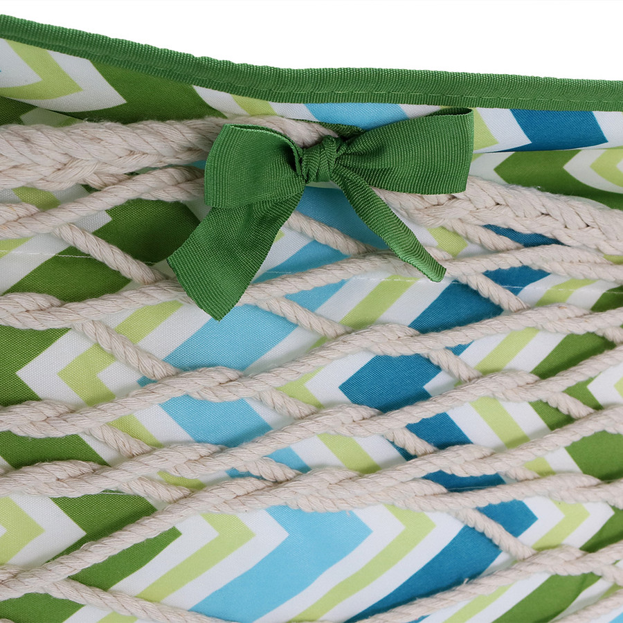 Blue & Green Chevron Side Ties
