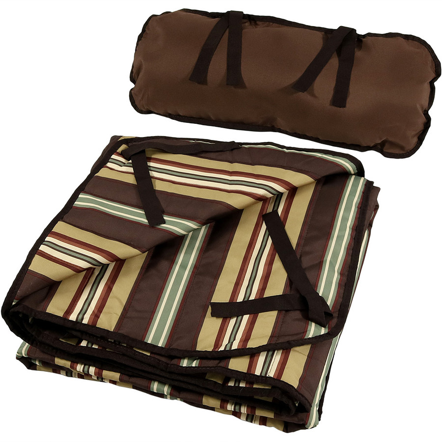 Desert Stripe Pad and Pillow Folded