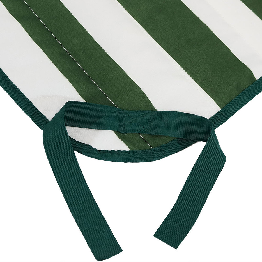 Green and White Stripe Ties