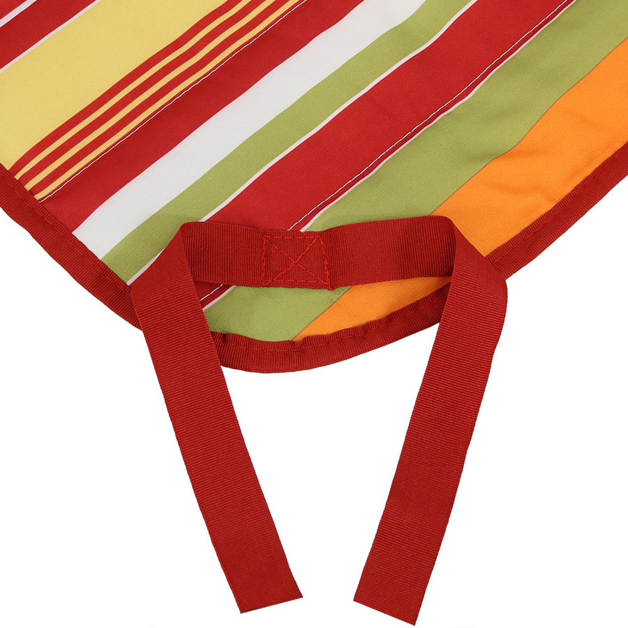 Tropical Orange Stripe Ties