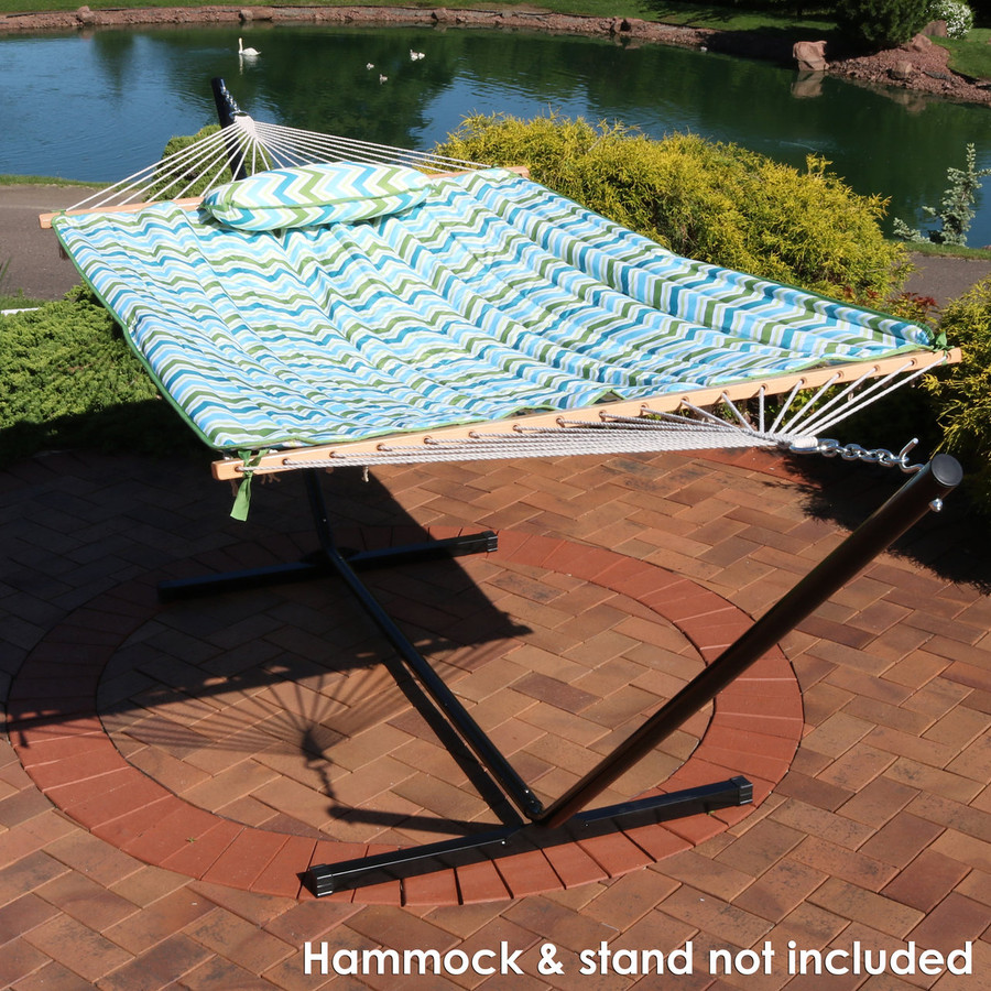 Blue and Green Chevron (Hammock and Stand NOT Included)