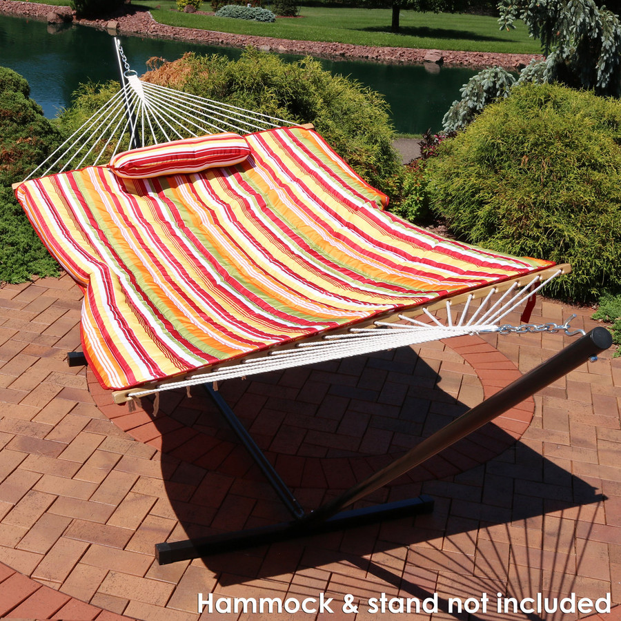Tropical Orange Stripe Outdoor (Hammock and Stand NOT Included)