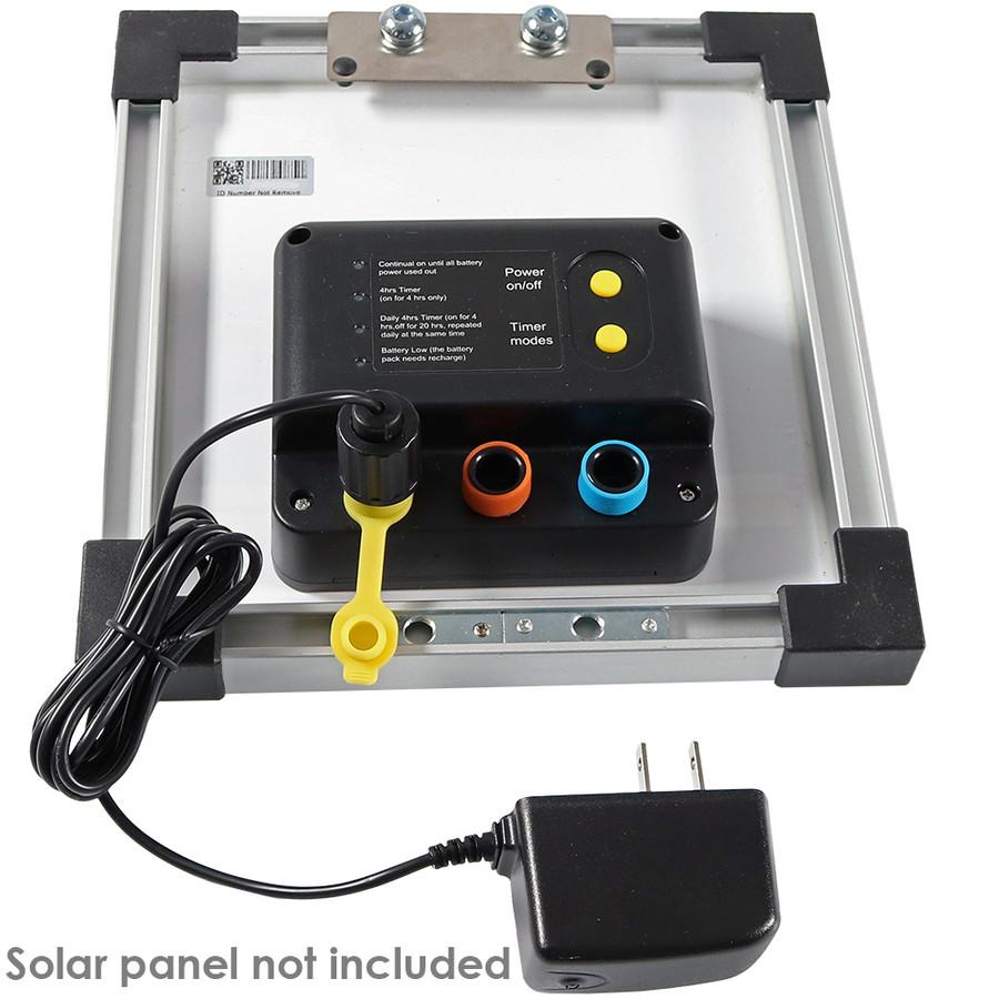 Sunnydaze Solar Panel Battery Charger, AC100-240V