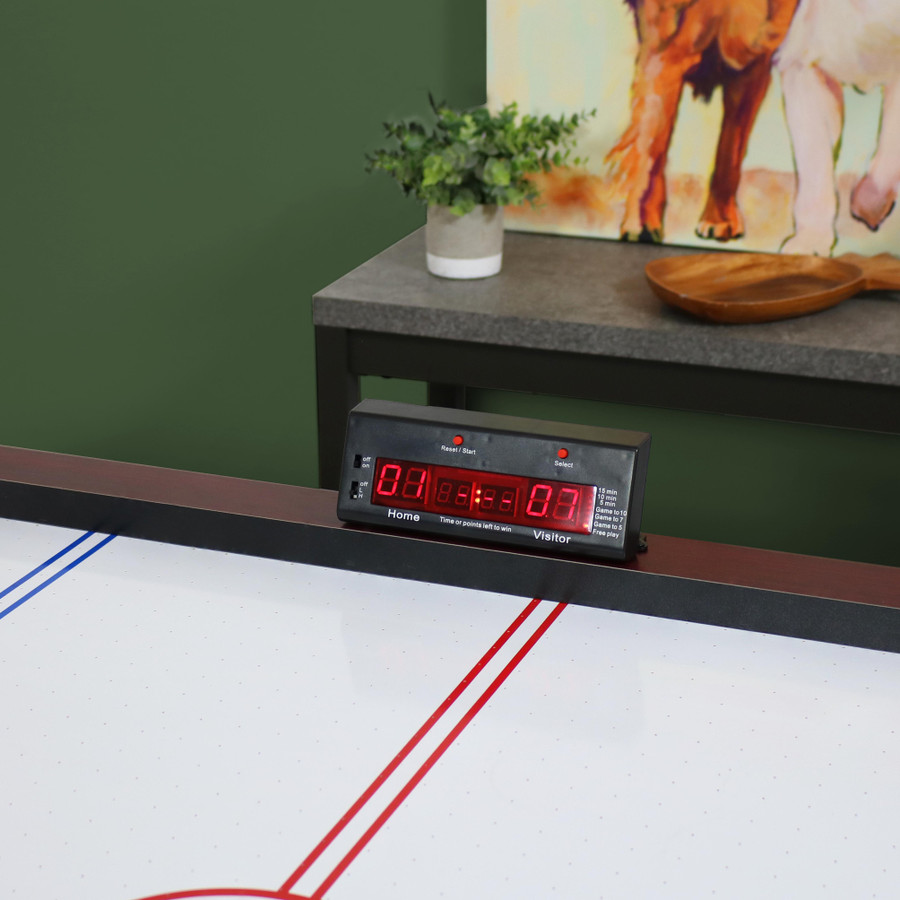 7-Foot Air Hockey Table with Scorer
