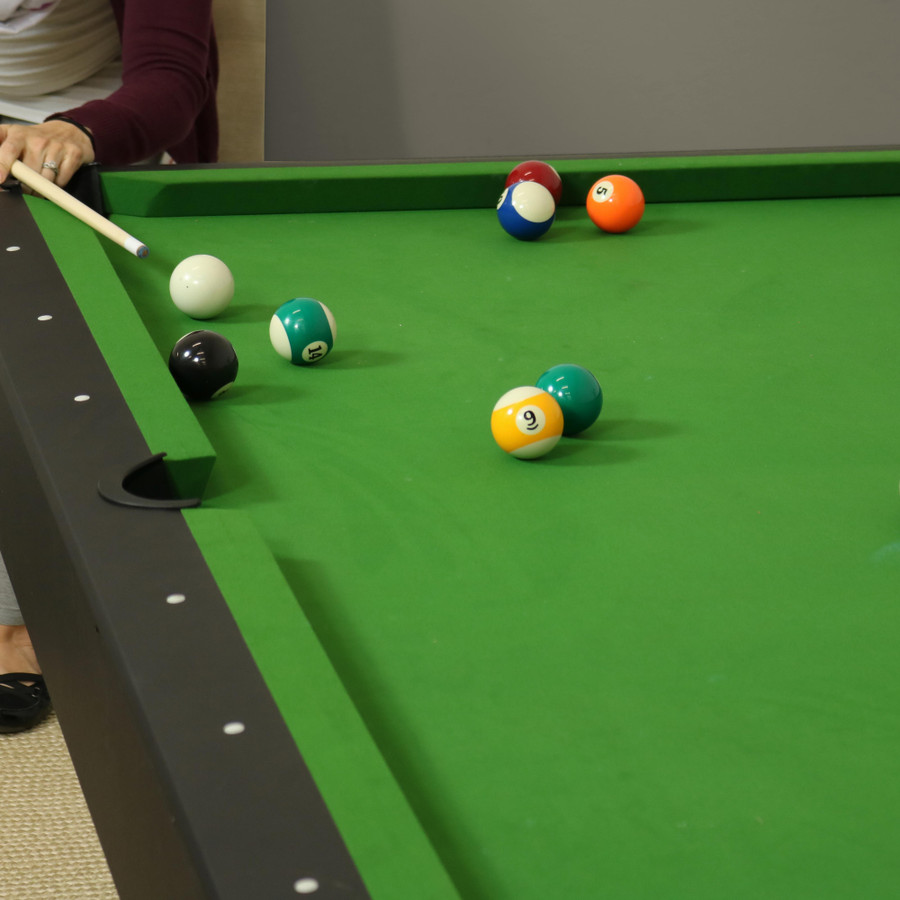 Closeup of Pool Table