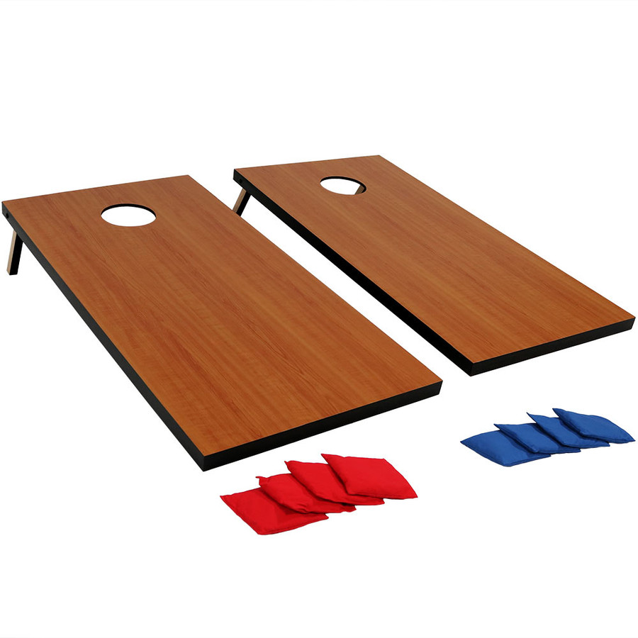 Sunnydaze 2' x 4' Cornhole Bean Bag Toss Game Set with 8 Bean Bags, Perfect for Backyard and Tailgating