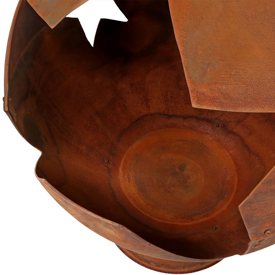 Closeup of Starry Night Rustic Fire Pit Bowl