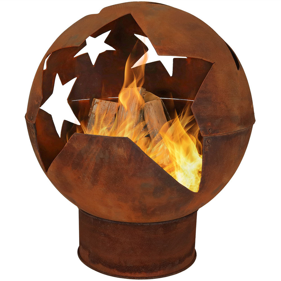 Starry Night Rustic Fire Pit Bowl,