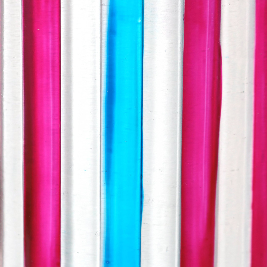 Closeup of Blue and Pink Stripes