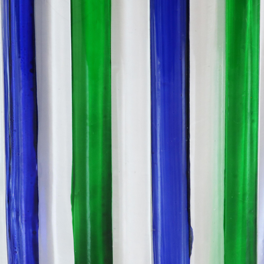 Blue and Green Striped Jars Swatch