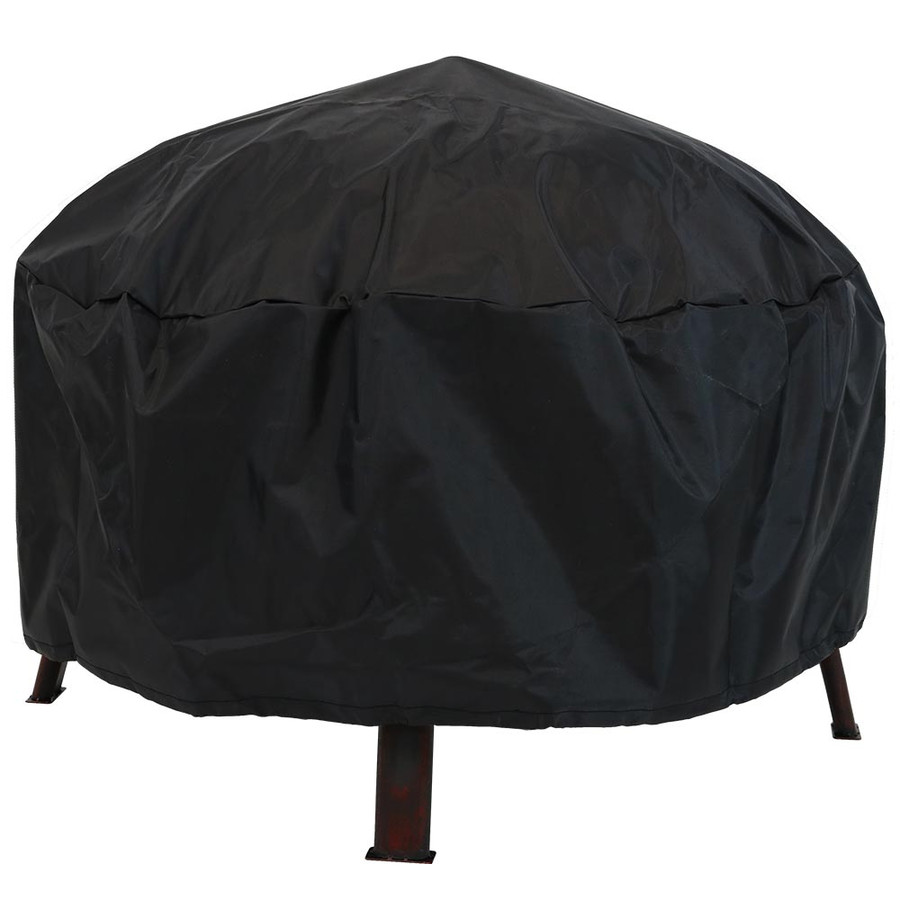 Fire Pit with Cover on