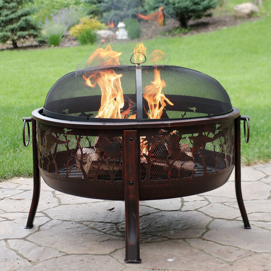 Pheasant Hunting Fire Pit
