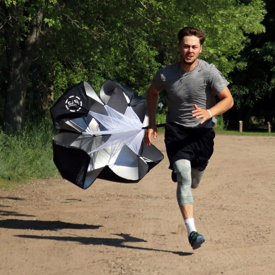CASL Brands Parachute Speed Chute, 50-Inch, for Running Resistance Training with Carrying Bag