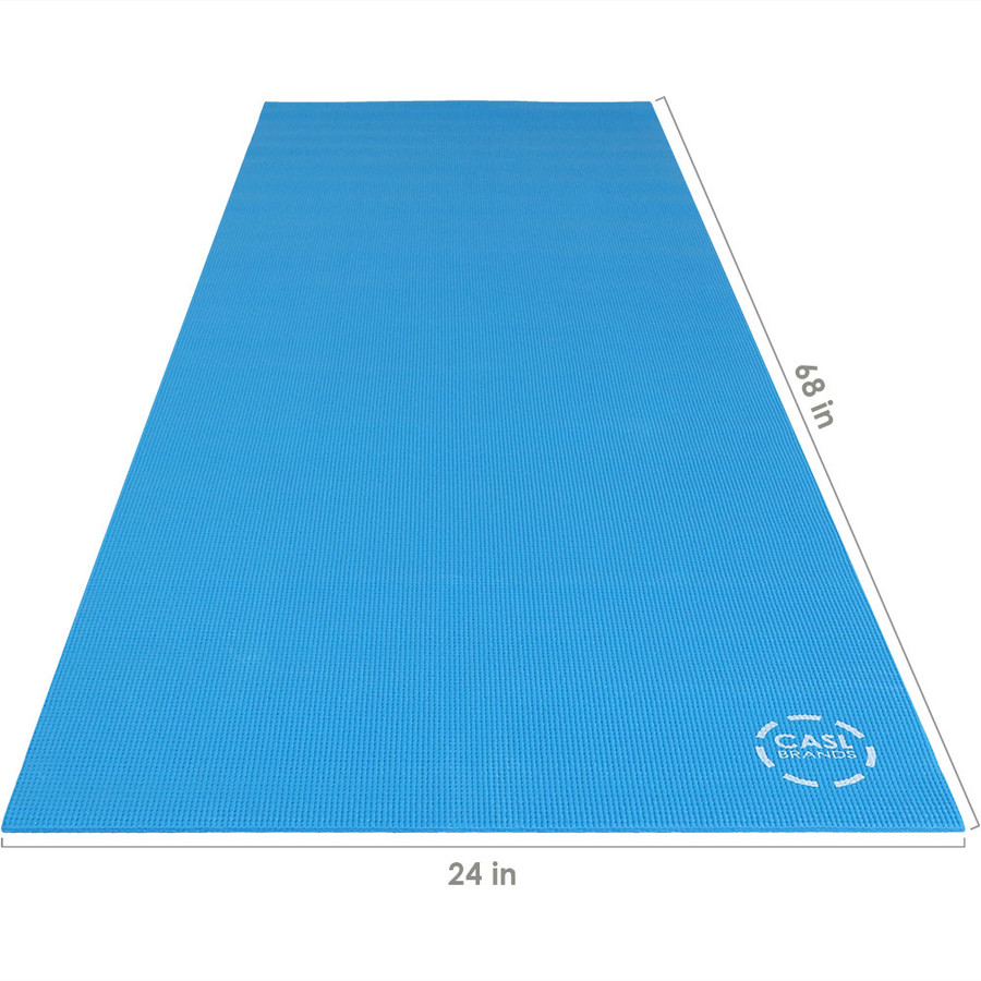 CASL Brands High Density Yoga Exercising Mat with PVC Foam Construction
