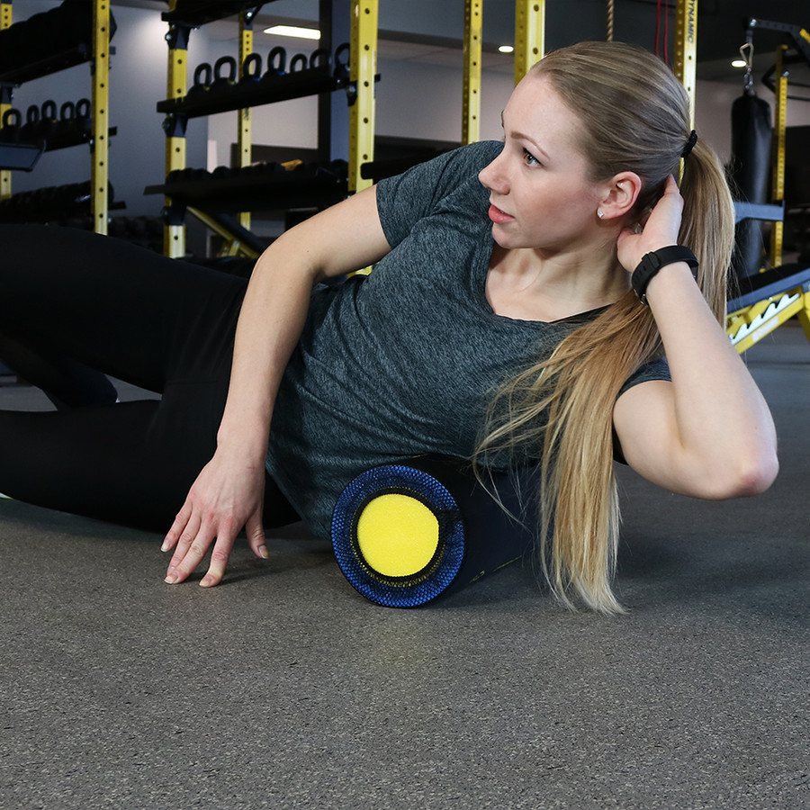 CASL Brands 18-Inch Instructional Foam Roller with 9 Printed Exercises
