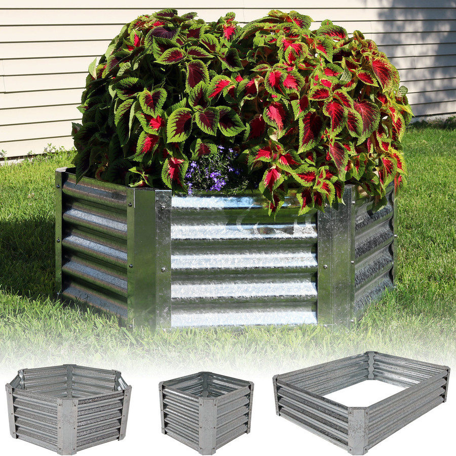 Galvanized Steel Raised Garden Bed Kit, Different Options
