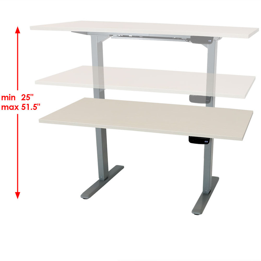 Whitewash Adjustable Height