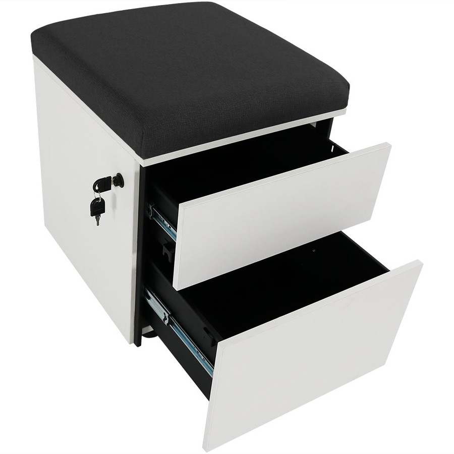 Black with Drawers Open