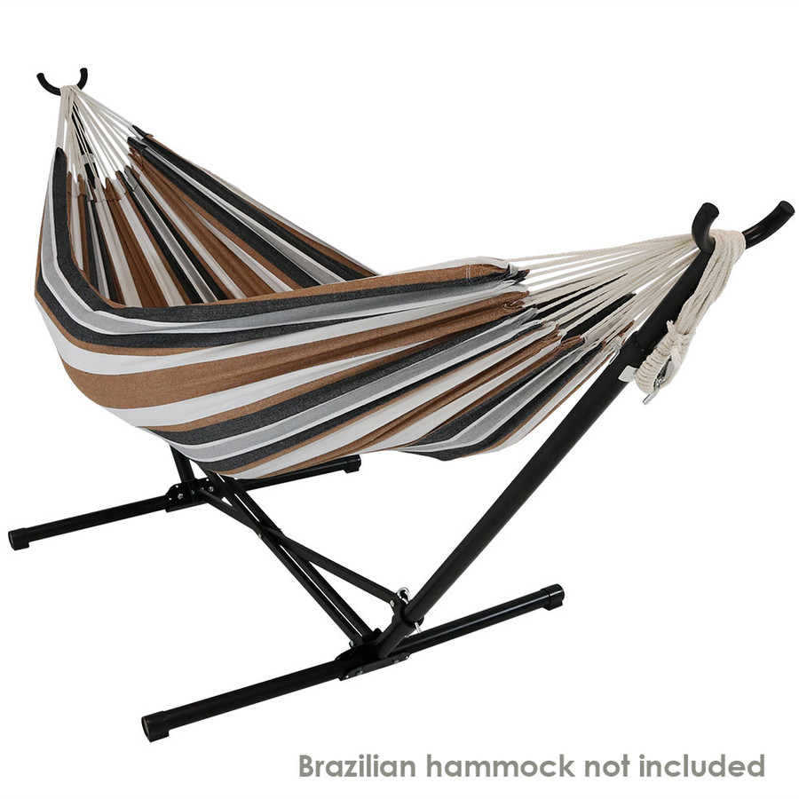Sunnydaze Portable Folding Hammock Stand for Brazilian Hammocks, Includes Carrying Bag, Fits 9.5'-12' Hammock