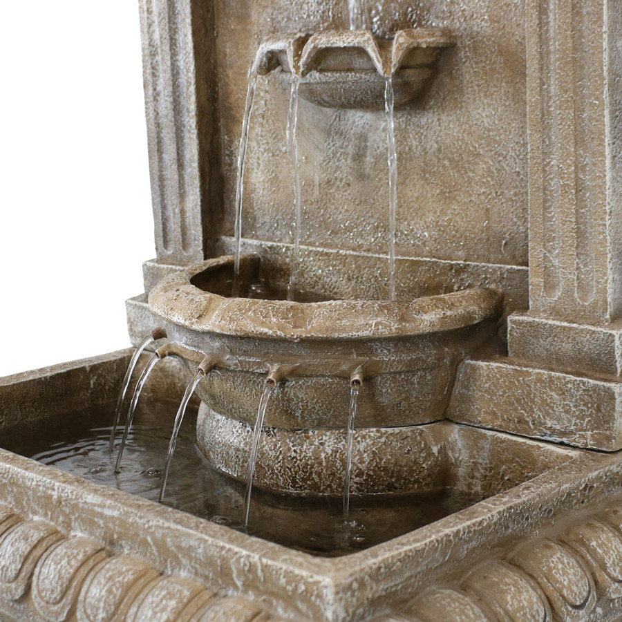 Closeup of Ornate Lavello Outdoor Water Fountain
