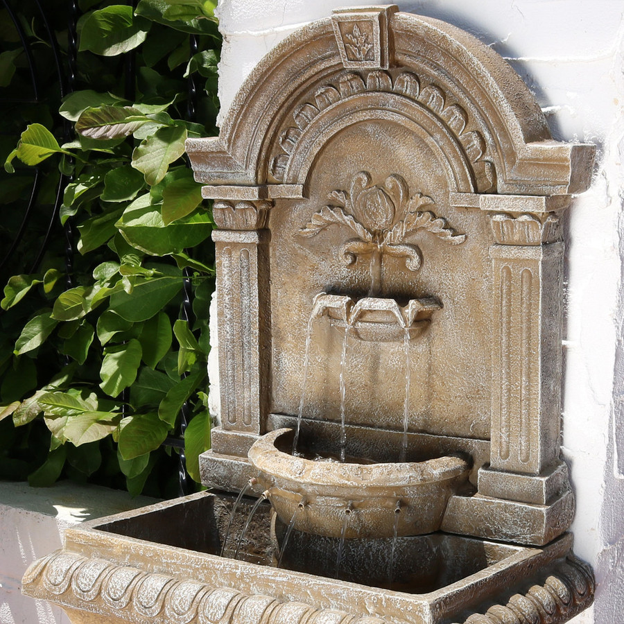 Top View of Ornate Lavello Outdoor Water Fountain