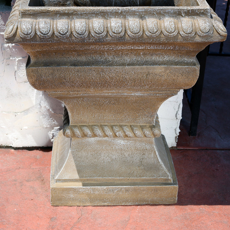 Bottom View of Ornate Lavello Outdoor Water Fountain