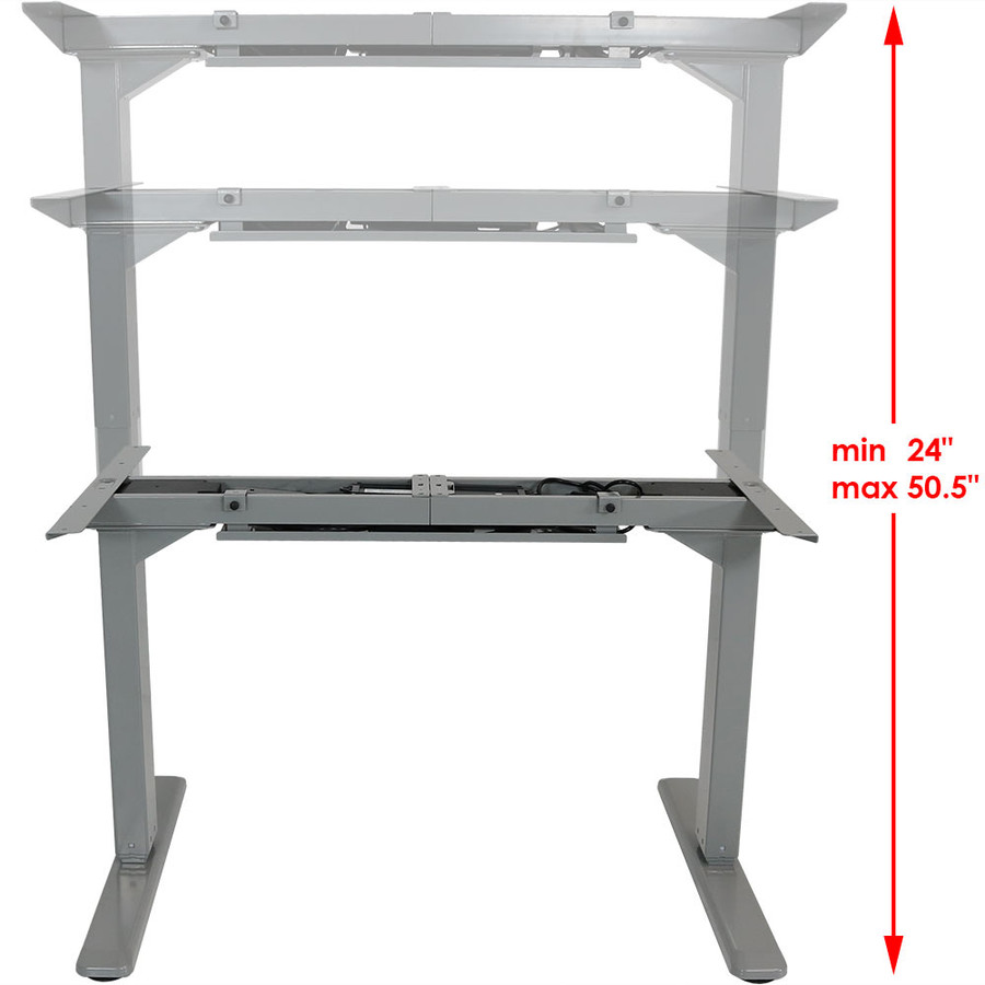 CASL Brands Height Adjustable Sit-Stand Electric Desk Frame with Touchscreen and Programmable Height Preset
