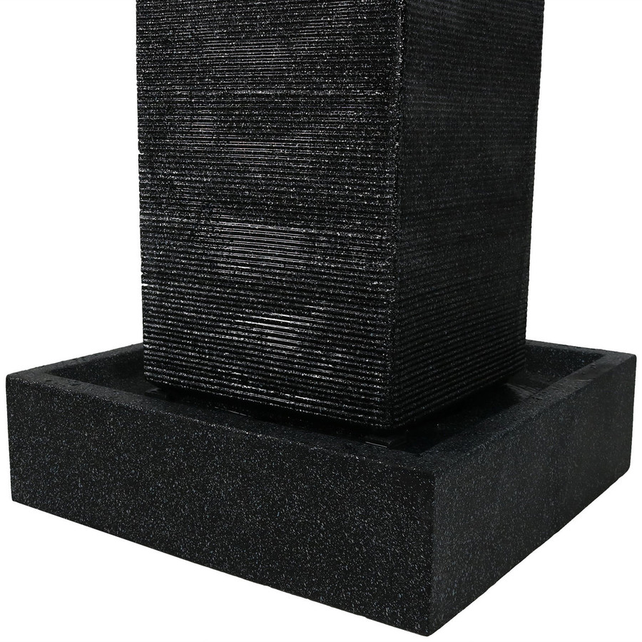 Base of Large Pillar Outdoor Water Fountain with LED Lights