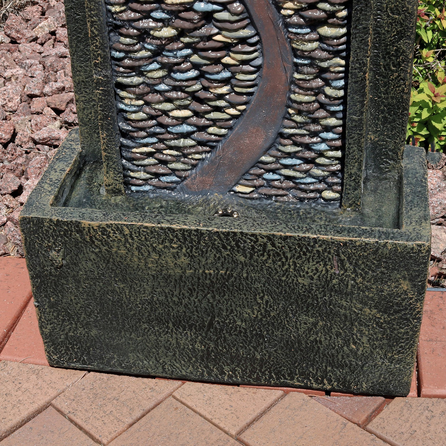 Bottom View of Modern Road Outdoor Fountain