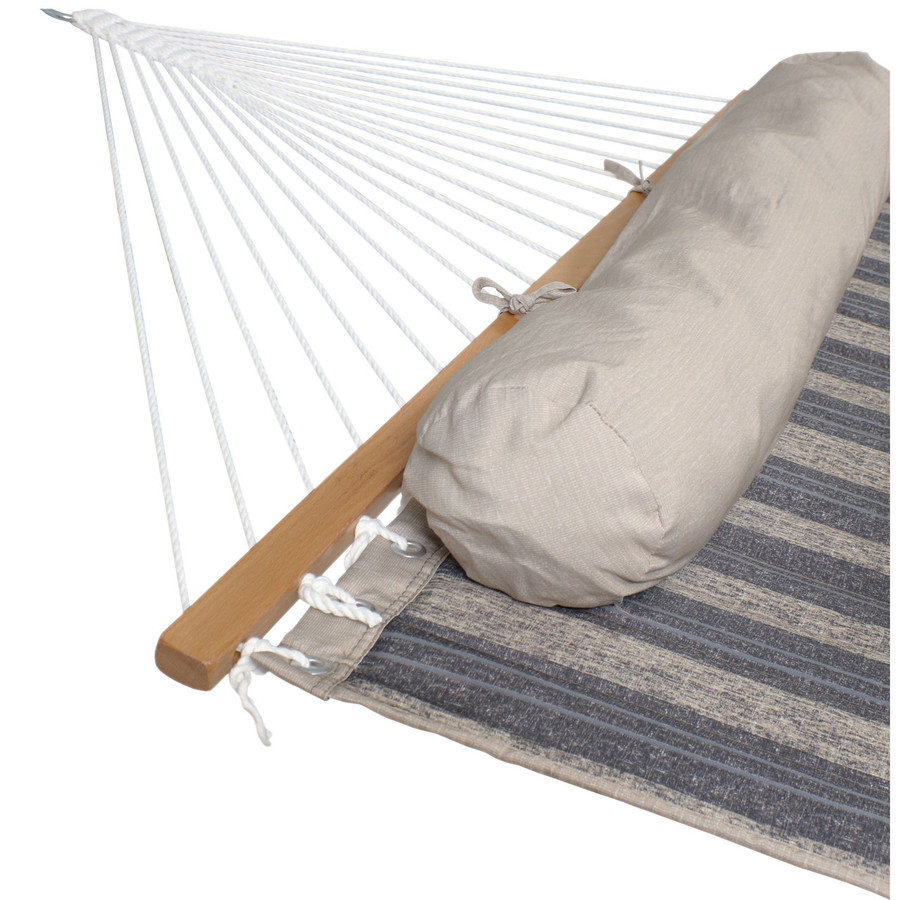 Sunnydaze 2 Person Quilted Fabric Hammock with Spreader Bars, Mountainside