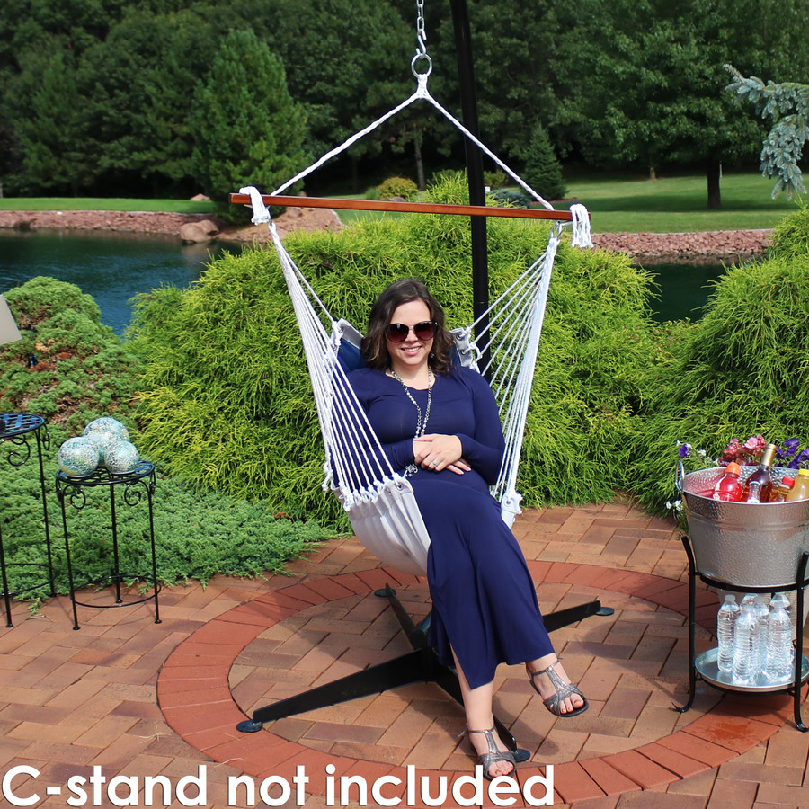 Sunnydaze Tufted Victorian Hammock Swing for Outdoor Use, 300-Pound Weight Capacity