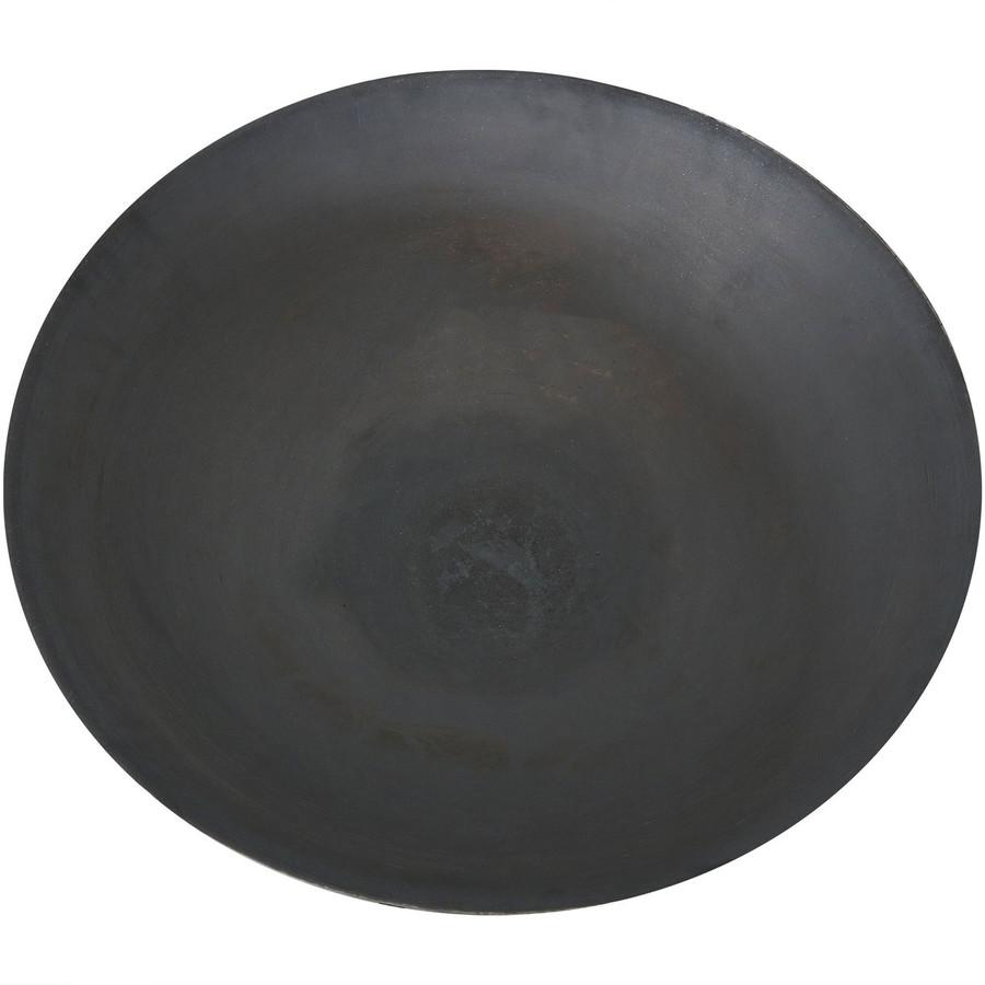 Sunnydaze Raised Cast Iron Fire Pit Bowl with Steel Finish, 22-Inch Diameter