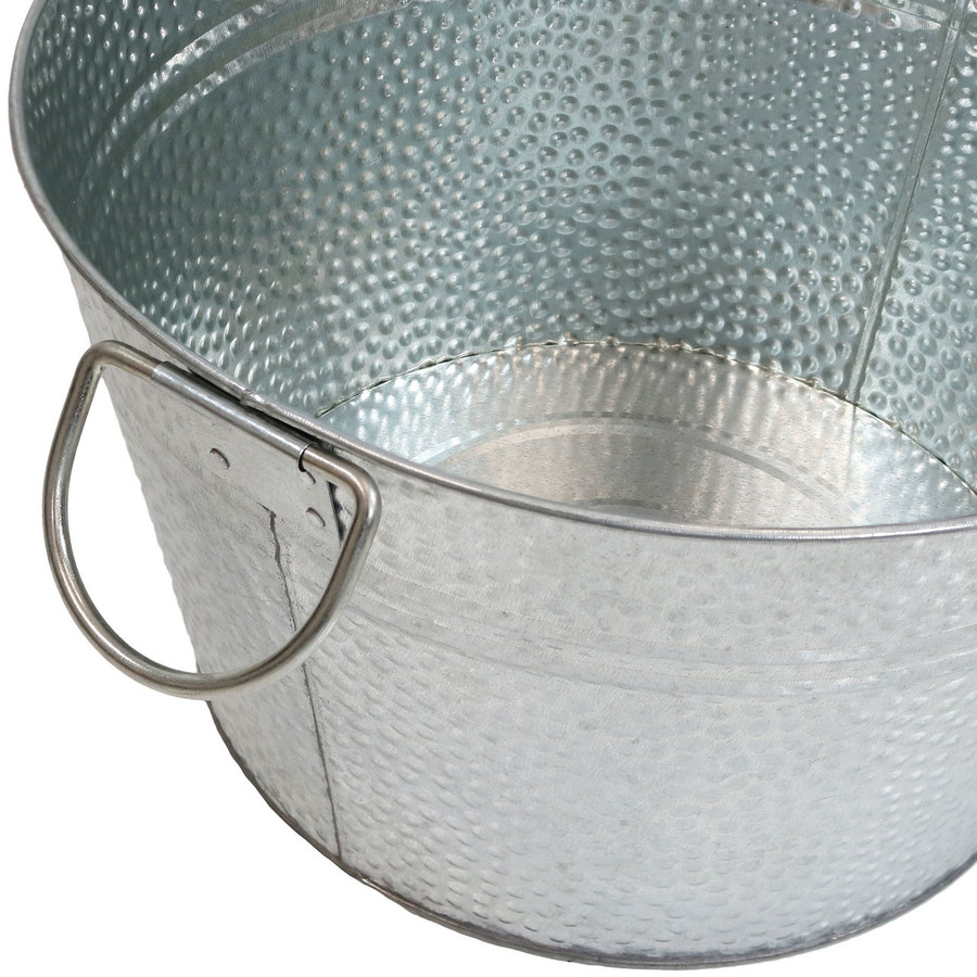 Sunnydaze Ice Bucket Drink Cooler with Stand and Tray Bucket View