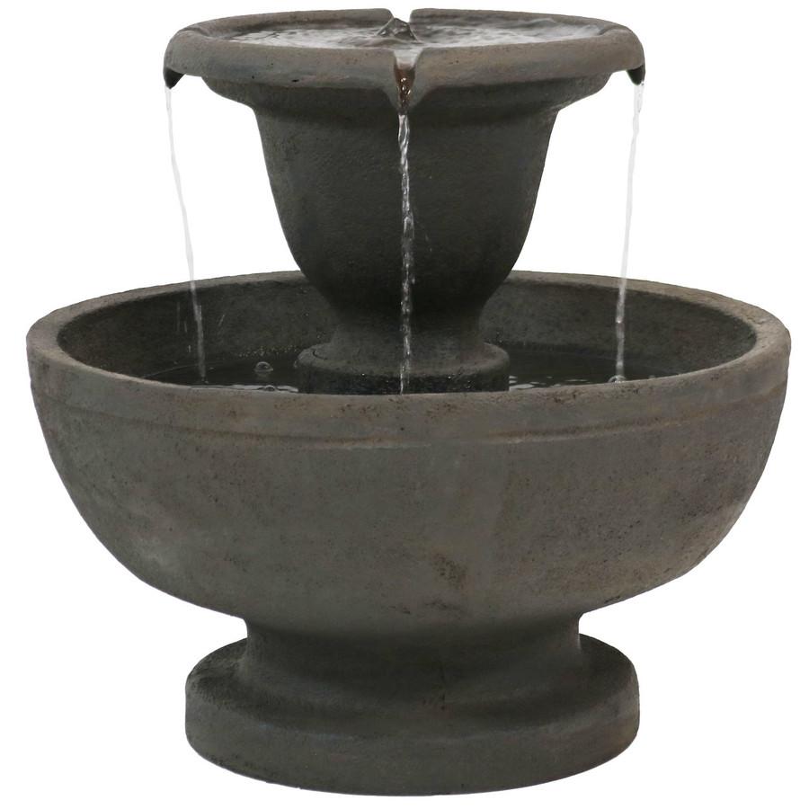Streaming Falls 2-Tier Outdoor Fountain
