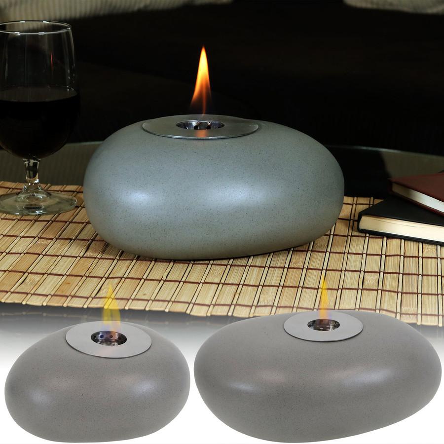 Sunnydaze Decorative Rock Bio Ethanol Tabletop Fireplace