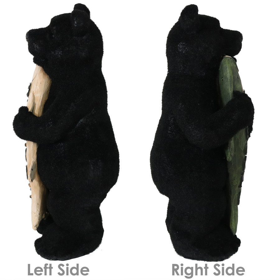 Side Views of Catch of the Day Rustic Bear with Fish Welcome Statue