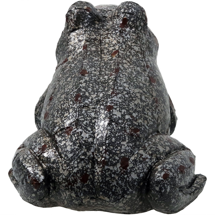 Sunnydaze Weathered Sitting Frog Outdoor Statue, 8-Inch Tall